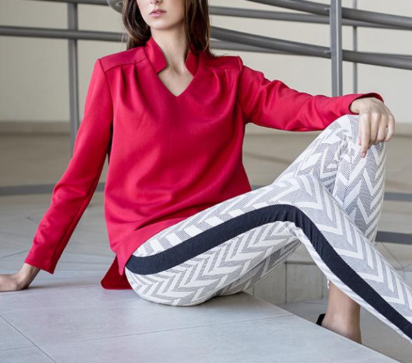 Bluzki Czerwona bluzka ZARA 38