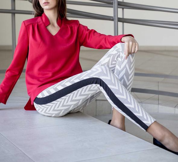 Legginsy legginsy z lampasem nowe S H&M