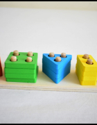 Sorter dla dzieci Drewniana piramida 5 figur...