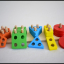 Sorter dla dzieci Drewniana piramida 5 figur
