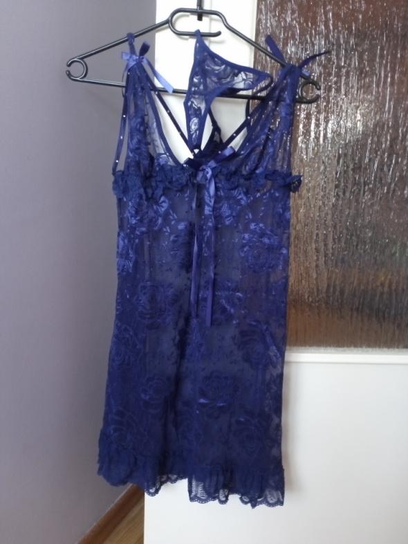 Koszulka nocna halka piżamka koronkowa M L