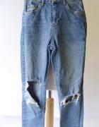Spodnie Dżinsy XS 34 Gina Tricot Dziury Rurki Jeansowe...