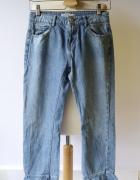 Spodnie Dzinsowe Zara XXS 32 Jeansy Postrzępione Rozszerzane...