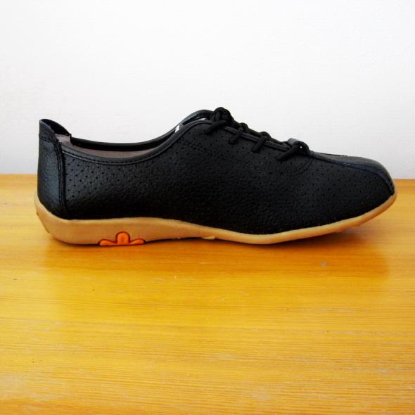 Czarne Adidasy Półbuty Tenisówki 37 Skóra Naturalna