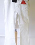 Spodnie Białe Dzwony V by Very XL 42 NOWE Biel Dżinsowe...