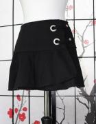 spódnica czarna spódniczka krótka biodrówka mini...