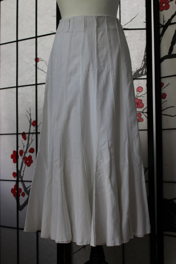 Spódnice spódnica długa midi biała maxi boho