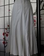 spódnica długa midi biała maxi boho...