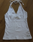 bluzka biała top koszulka na szelkach ramiączkach