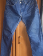 Klasyczne jeansy HOUSE z przetarciami rozmiar L