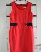 czerwona letnia sukienka rozmiar 42