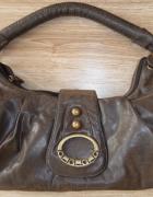Brązowa torebka do ręki...