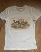 koszulka vintage biała z wzorem retro...