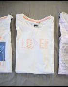 Trzy białe tshirty koszulki damski 42 XL OUTHORN...