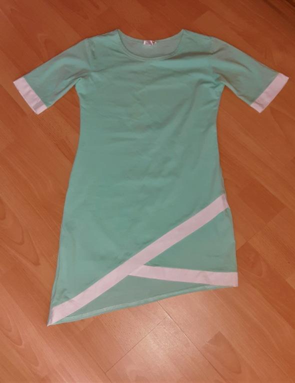 Letnia asymetryczna sukienka S 36...