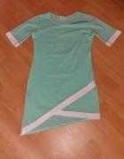 Letnia asymetryczna sukienka S 36