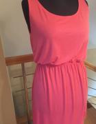 Różowa letnia sukienka H&M S M L...