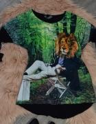 Bluzka Zarra Gembos z tygrysem na długi rękaw rozmiar S...