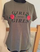 Oliwkowy tshirt Primark 44