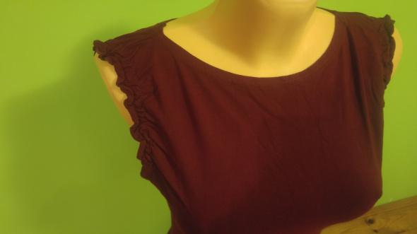 Bluzka burgund bordowa