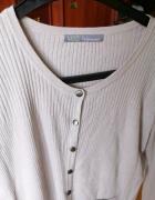 Kardigan Damski Sweter Beżowy L...