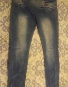 Jeansy wycierane L XL
