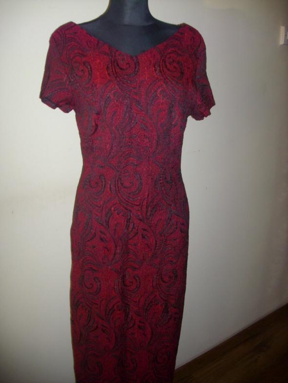 Suknie i sukienki MAKSI SUKIENKA BORDOWA M NA L