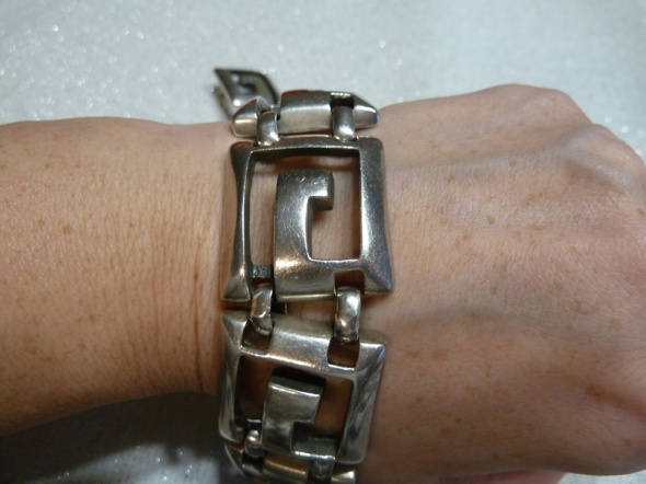 bransoleta geometryczna srebro 67g...