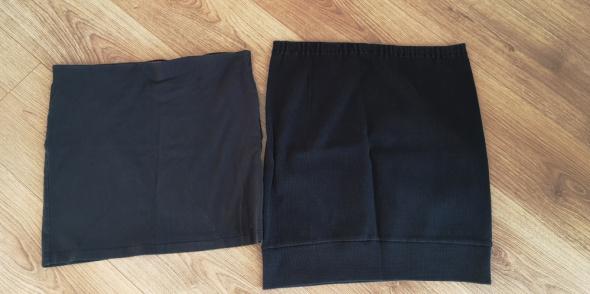Mini spódniczka spódnica czarna zestaw 2 szt rozm M L...