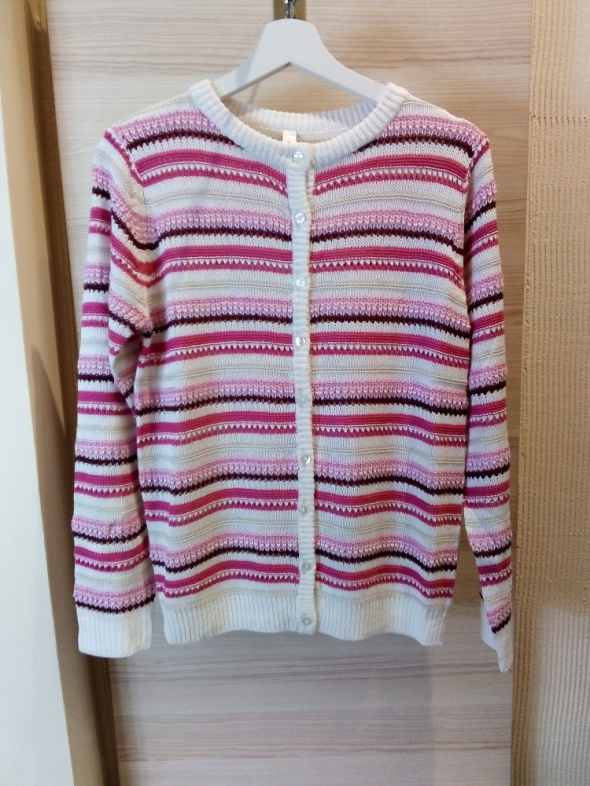 Sweter rozpinany w paski