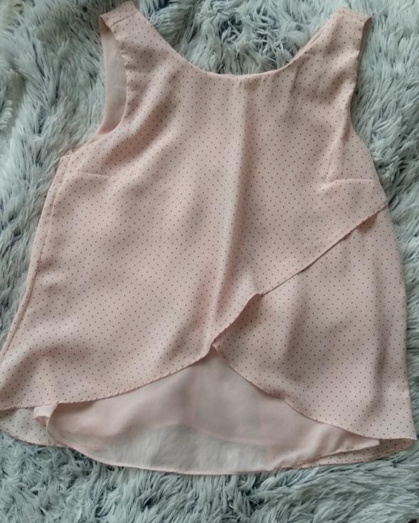 Bershka Różowa bluzka w kropeczki