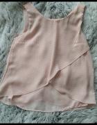Bershka Różowa bluzka w kropeczki...