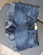 Spodenki szorty jeansowe niebieskie granatowe rozmiar M...