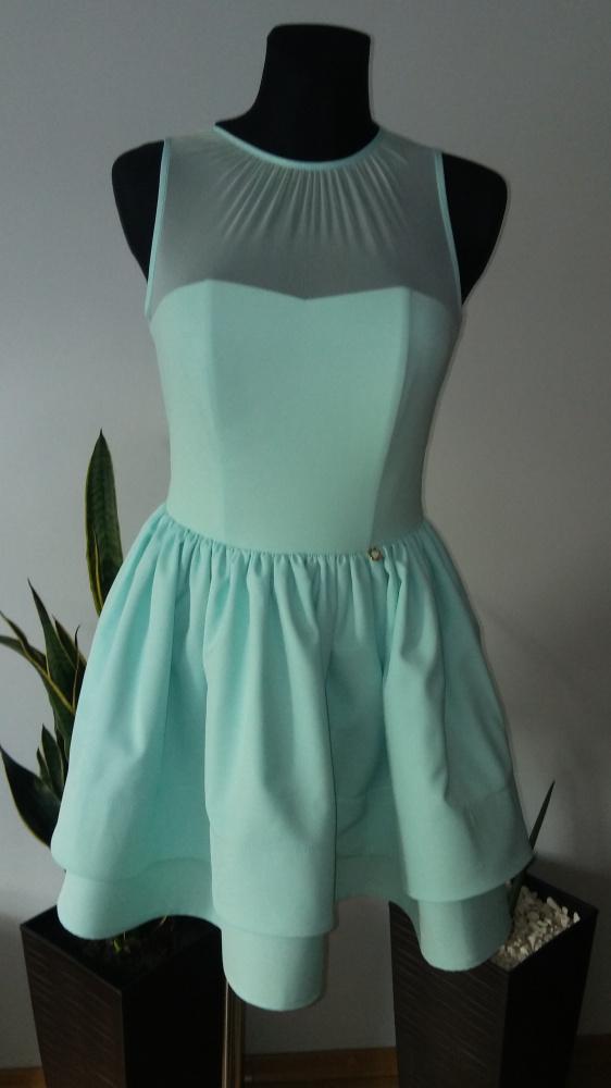 Suknie i sukienki Sukienka rozkloszowana siateczka gorsetowa