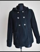 NEXT płaszcz czarny z kapturem luźniejszy w kroju 42 XL...