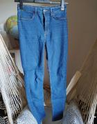 Spodnie rurki z wysokim stanem 36 S H&M Divided jeansowe elasty...