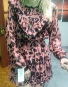 Sukienka zwiewna boho falbanki centki rozmiar uniwersalny S M m...