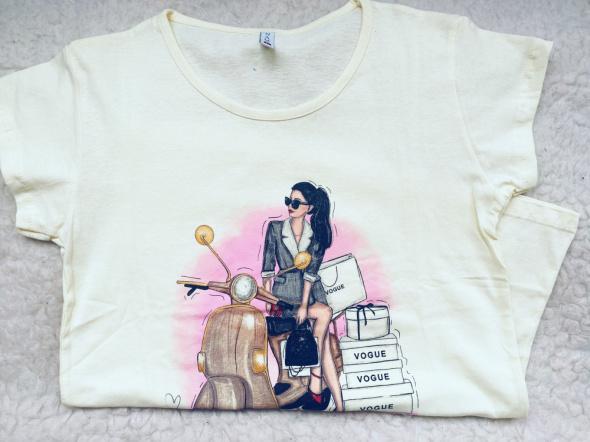 Nowy T shirt rozm L bawełna Atrakcyjna cena