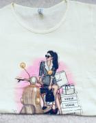 Nowy T shirt rozm L bawełna Atrakcyjna cena...