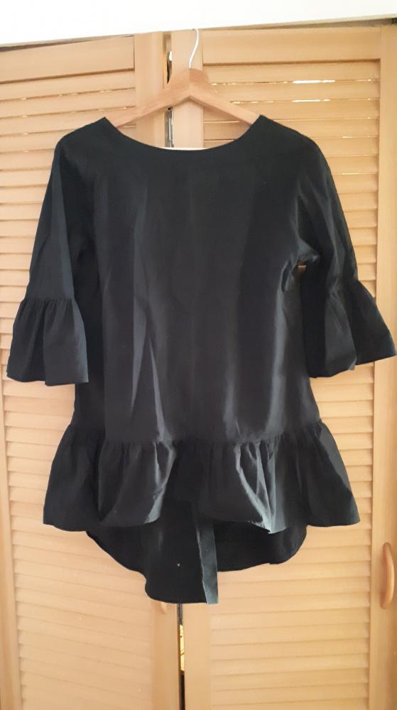 Bluzki Elegancka bluzka z guzikami na plecach