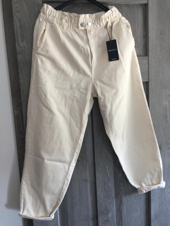 Spodnie Nowe spodnie Bezowe slouchy baggy XL