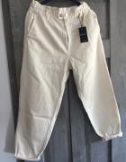 Nowe spodnie Bezowe slouchy baggy XL...