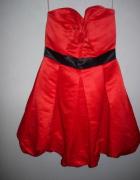 Czerwona sukienka koktajlowe bombka M na imprezę...