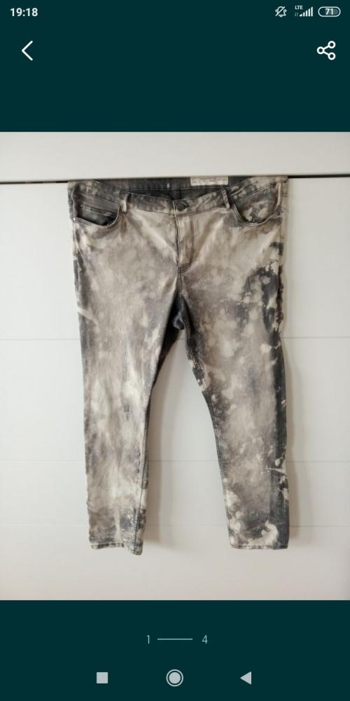 Spodnie 48 50 52 duże plus size jeansy Mazanek marmurki modne
