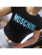 Bluzka koszulka tshirt czarny Moschino S M...