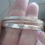 Zestaw 3 srebrny bransoletek kółka