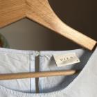 Koszula Vila M 38 niebieska błękitna szerokie rękawy wiązane lekka