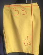 ołówkowa żółta spódnica Reserved 36
