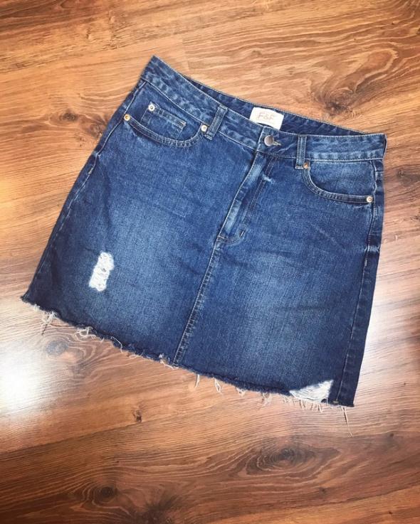 Spódniczka jeans przetarcia M...