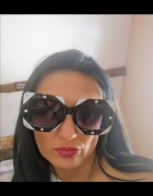 Luksusowe duże kwadratowe diamentowe okulary białe